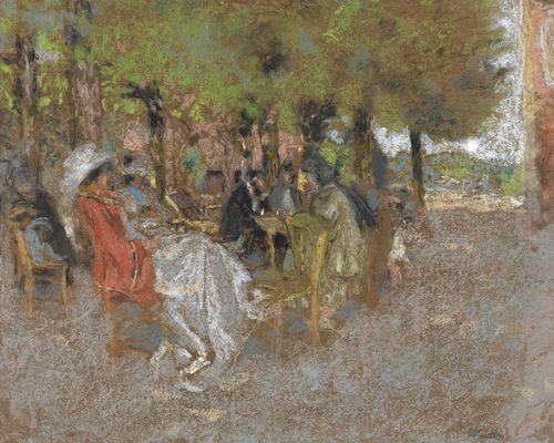 Edouard Vuillard-Personnages Sous Les Arbres-1907