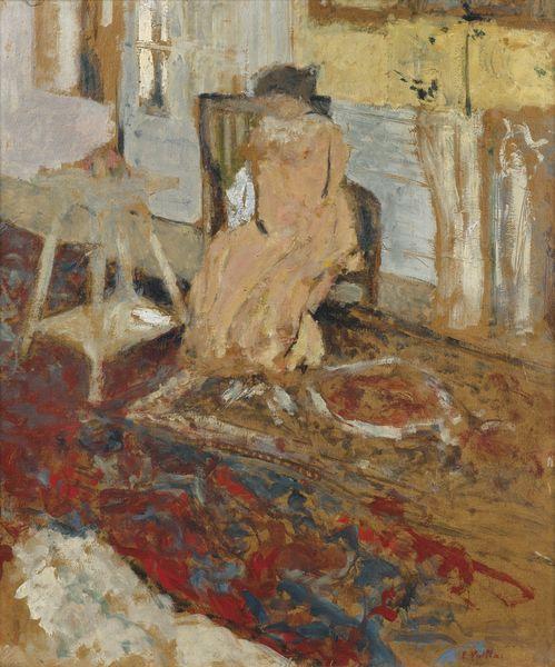 Edouard Vuillard-Madame Arthur Fontaine Au Tapis De Smyrne-1904