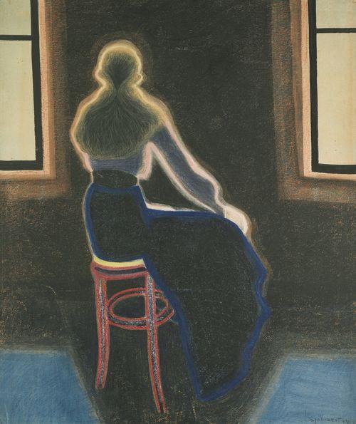 Leon Spilliaert-Jeune Femme Sur Un Tabouret-1909