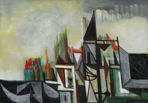 Oscar Dominguez-Sans Titre (La Ville)-1956