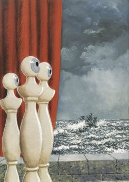 Rene Magritte-La Traversee Difficile-1958