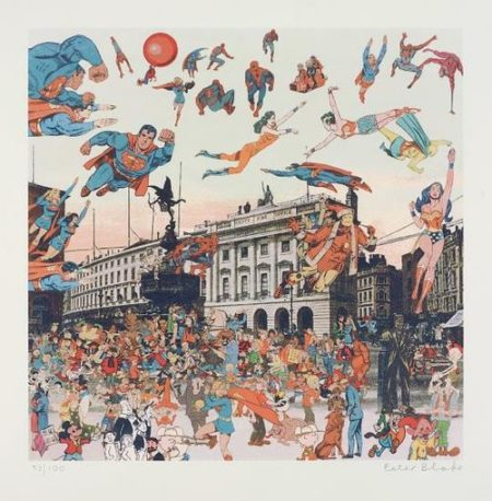 Peter Blake-Piccadilly Circus - The Convention Of Comic Book Characters, From London Suite-2012