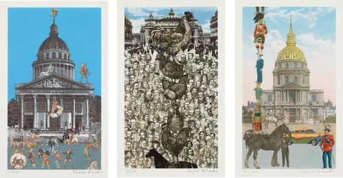 Peter Blake-The Paris Suite: Three Plates-2010