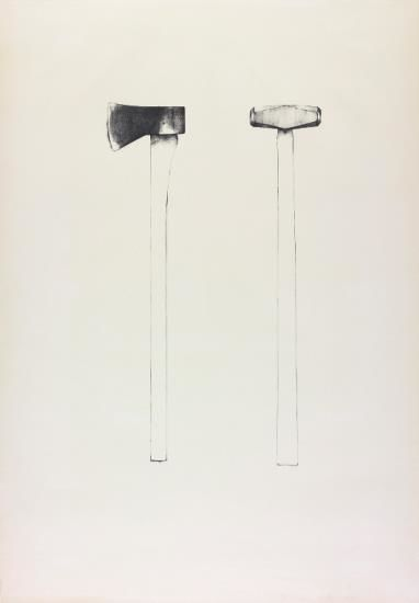 Jim Dine-Sledgehammer and Axe; and Sledgehammer and Axe-1971