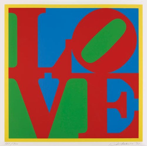 Robert Indiana-Heliotherapy Love-1995