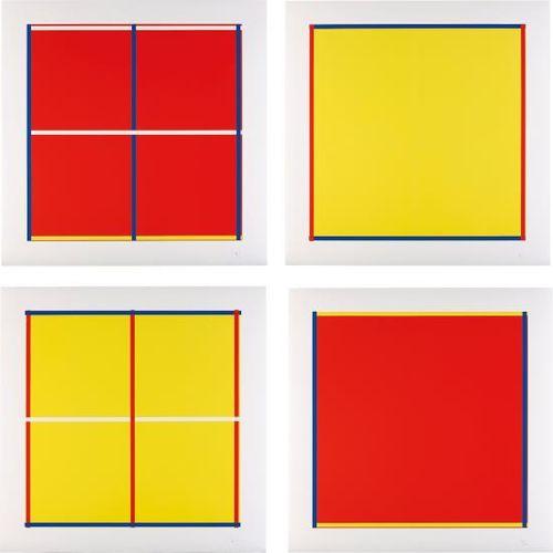 Imi Knoebel-Rot, Gelb, Weiss, Blau: Four Plates-1995