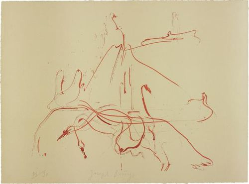 Joseph Beuys-Untitled, From Homage A Picasso-1973