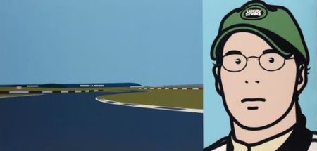 Julian Opie-Imagine You Are Driving (Fast)/Jacques-2002