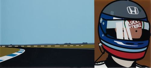 Julian Opie-Imagine You Are Driving (Fast)/Rio/Helmet-2002
