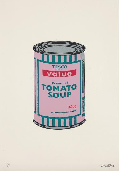 Banksy-Soup Can (Pink/Emerald/Rasberry)-2005