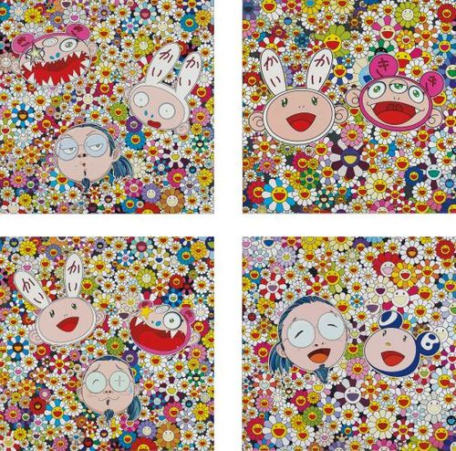 Takashi Murakami-Kaikai Kiki And Me - The Shocking Truth Revealed!; Kaikai And Kiki: Lots Of Fun; Kaikai Kiki And Me - For Better Or Worse In Good Times And Bad. The Weather Is Fine; And Me And Mr. Dob-2010
