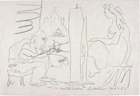 Pablo Picasso-Le Peintre Et Son Modele (The Painter And His Model)-1962
