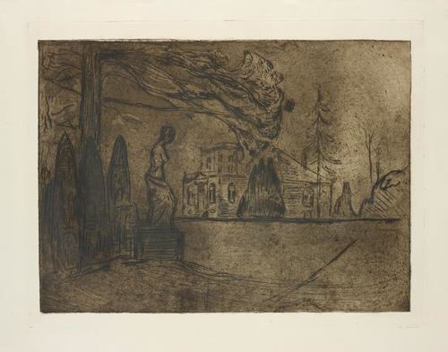 Edvard Munch-The Garden At Night, From Linde Portfolio-1902