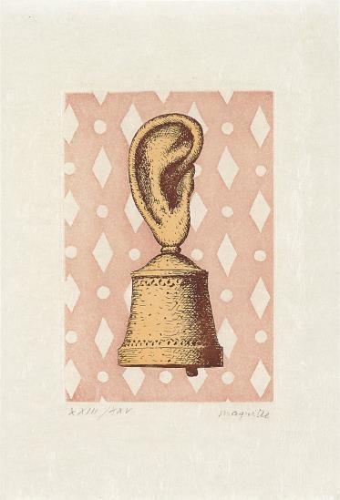 Rene Magritte-After Rene Magritte - La Lecon De Musique (The Music Lesson)-1968