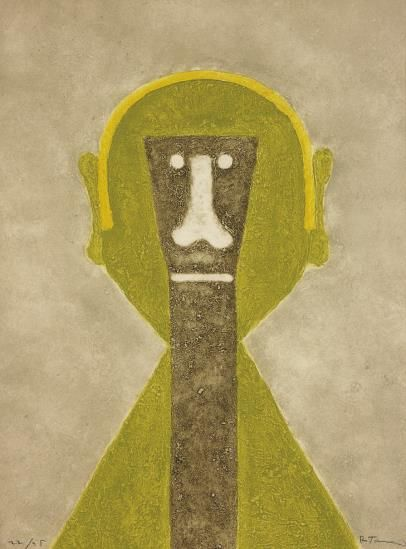 Rufino Tamayo-Cabeza En Amarillo (Head In Yellow)-1976