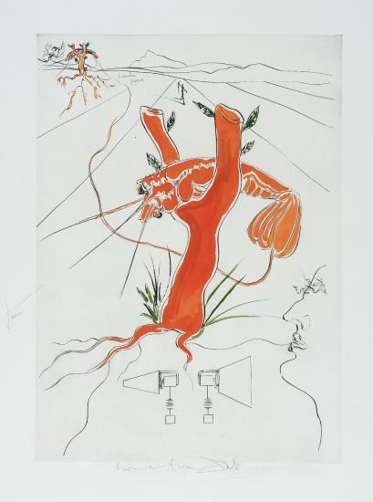 Salvador Dali-Le Telephone, For Hommage A Leonardo Da Vinci (American Inventions), (The Telephone, For Homage To Leonardo Da Vinci (American Inventions))-1975