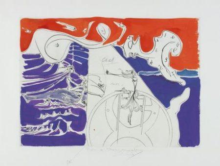 Salvador Dali-La Machine A Coudre, For Hommage A Leonardo Da Vinci (American Inventions) (The Sewing-Machine, For Homage To Leonardo Da Vinci (American Inventions))-1975