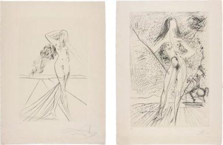 Salvador Dali-Venus; And Venus De Las Constellaciones Con Picador (Venus; And Venus Of The Constellations With Bullfighter)-1975