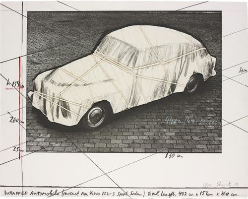 Christo and Jeanne-Claude-Wrapped Automobile, Project For Volvo 122 S Sport Sedan-1984
