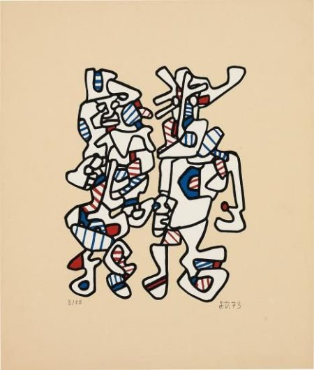 Jean Dubuffet-Parade Nuptiale (Courtship)-1973