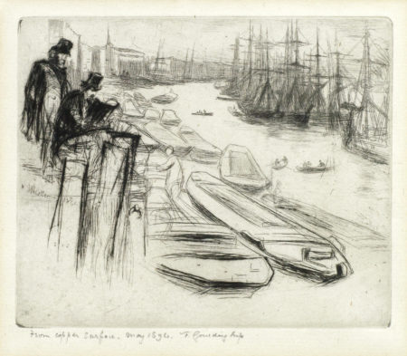 James Abbott McNeill Whistler-The Little Pool, from The Thames Series-1894