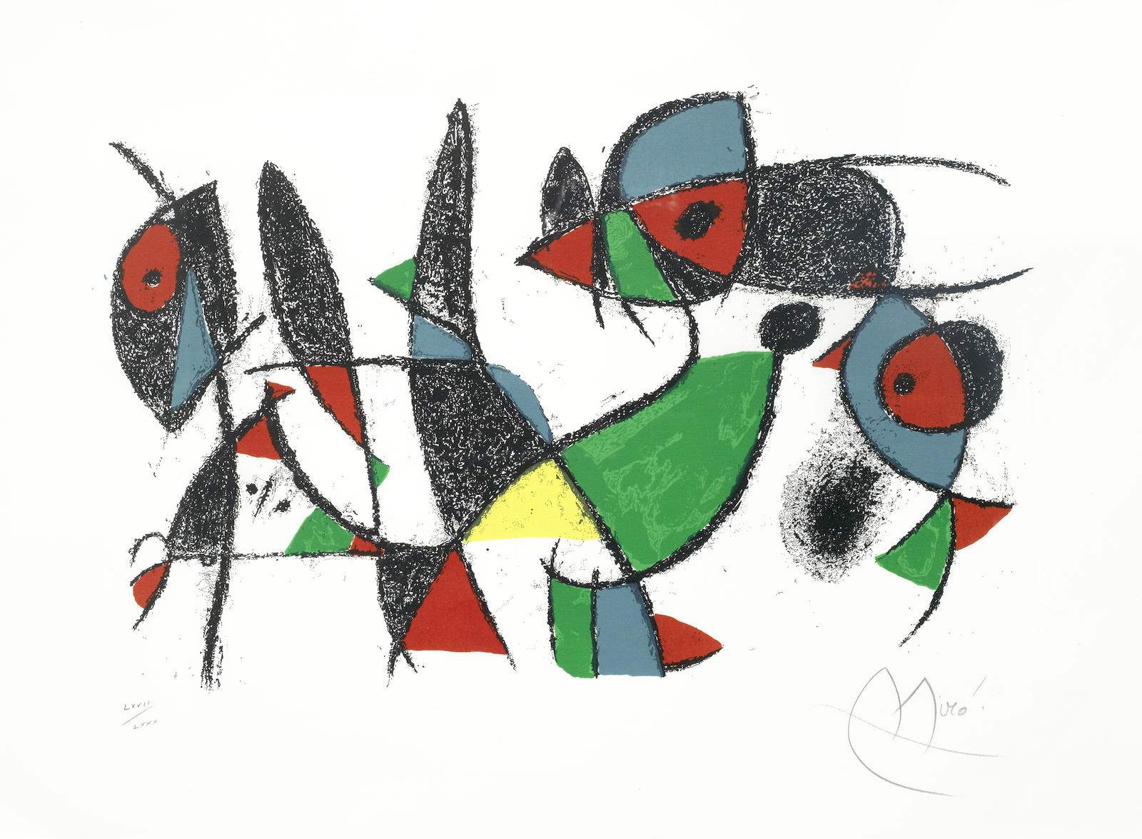 Joan Miro-Untitled, from Lithographe II-1974