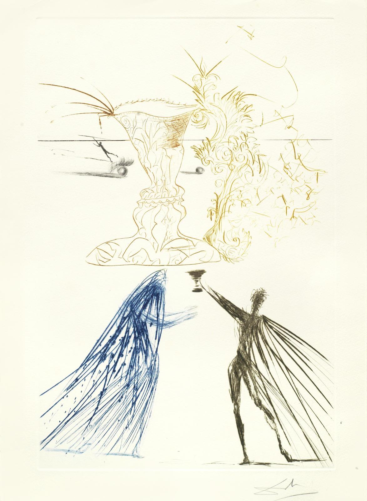 Salvador Dali-Fourteen Plates, from Tristan et Iseult-1970