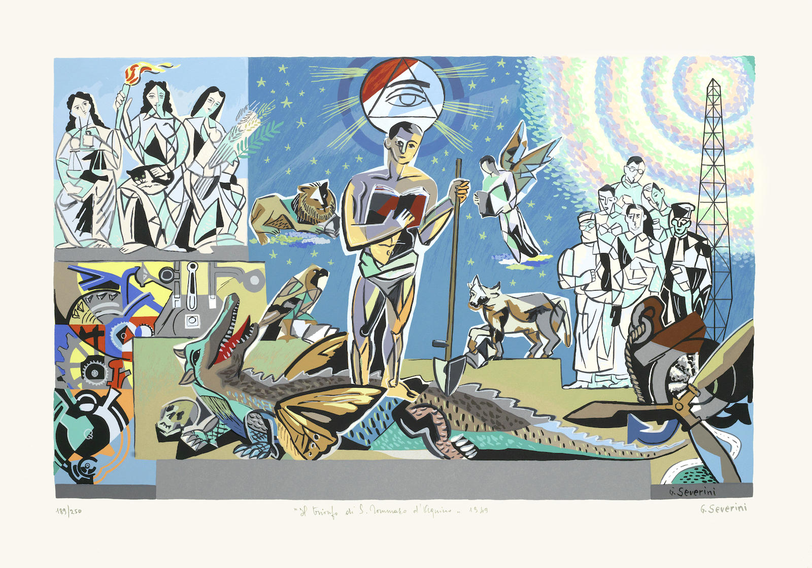 Gino Severini-After Gino Severini - Una ricerca di radici folio-1982
