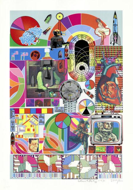 Eduardo Paolozzi-B.A.S.H. (Pink, Orange, Blue-Grey) unframed-1971