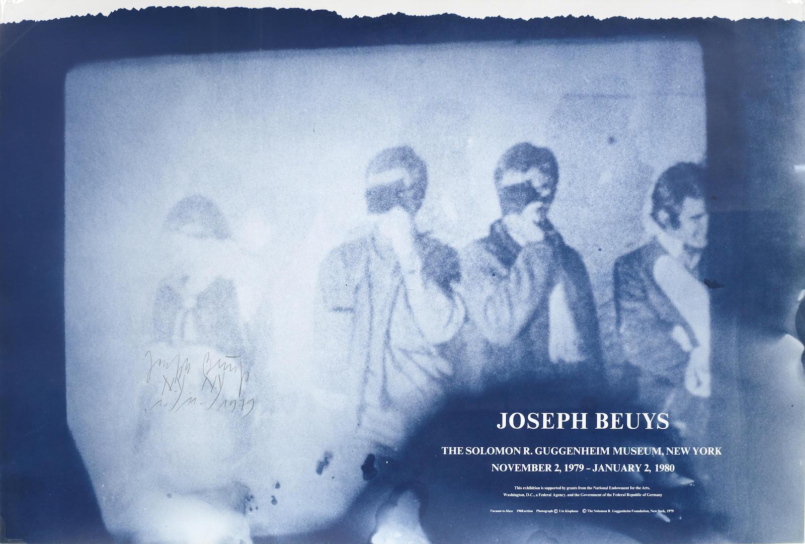 Joseph Beuys-Poster for the 1979 Guggenheim Retrospective-1979