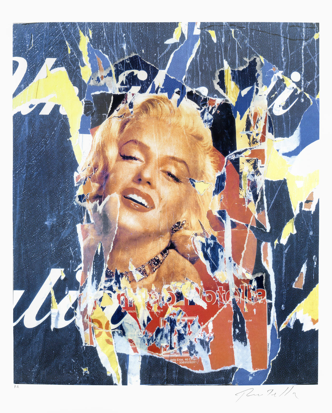 Mimmo Rotella-Omaggio a Marilyn 40 (Homage to Marilyn)-2005