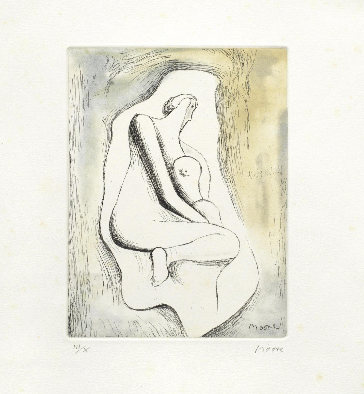 Henry Moore-Sketchbook 1928 The West Wind Relief-1980