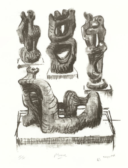 Henry Moore-Ideas for Wood Sculpture-1973