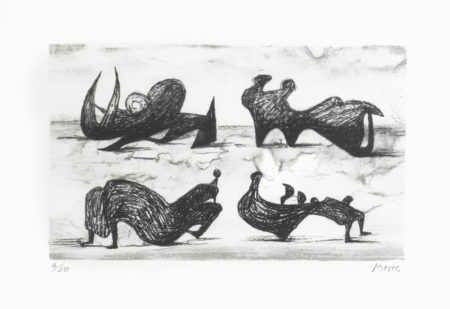 Henry Moore-Four Silhouette Figures-1973