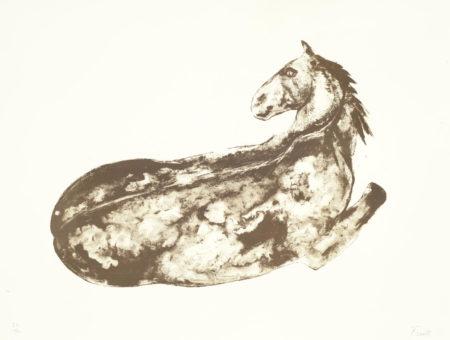 Elisabeth Frink-Reclining Horse (Not in Wiseman)-1976
