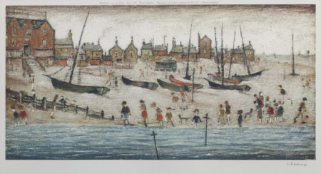 Laurence Stephen Lowry-The Beach; Deal 1-1973