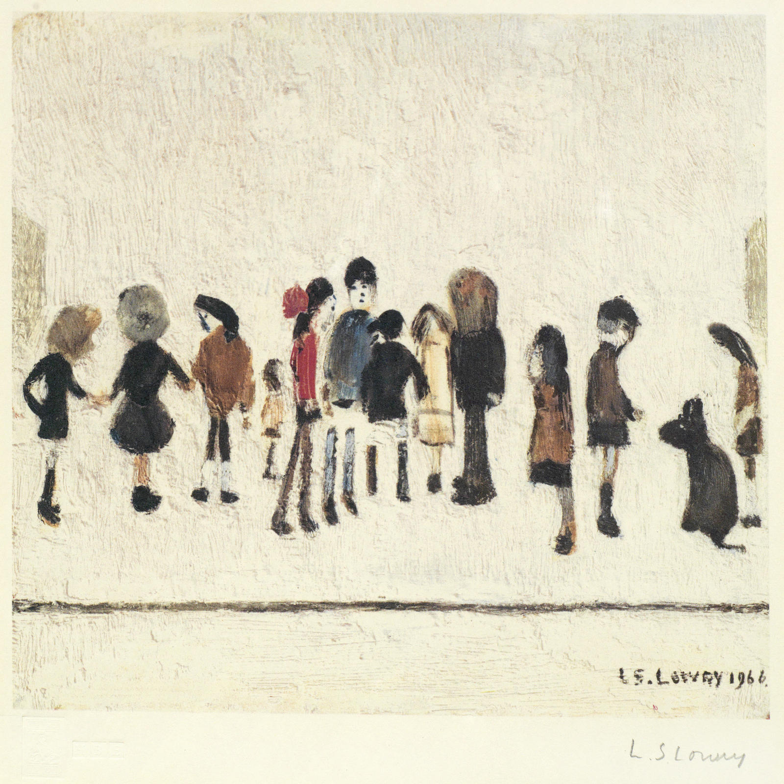 Laurence Stephen Lowry-Group of Children, Nursery Sketches-