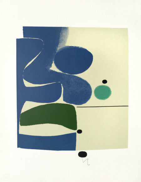 Victor Pasmore-Blue Movement and Green unframed-1980