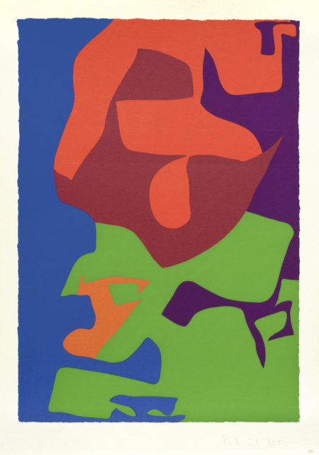 Patrick Heron-Second Vertical Screenprint: 1976, from The Shapes of Colour unframed-1978