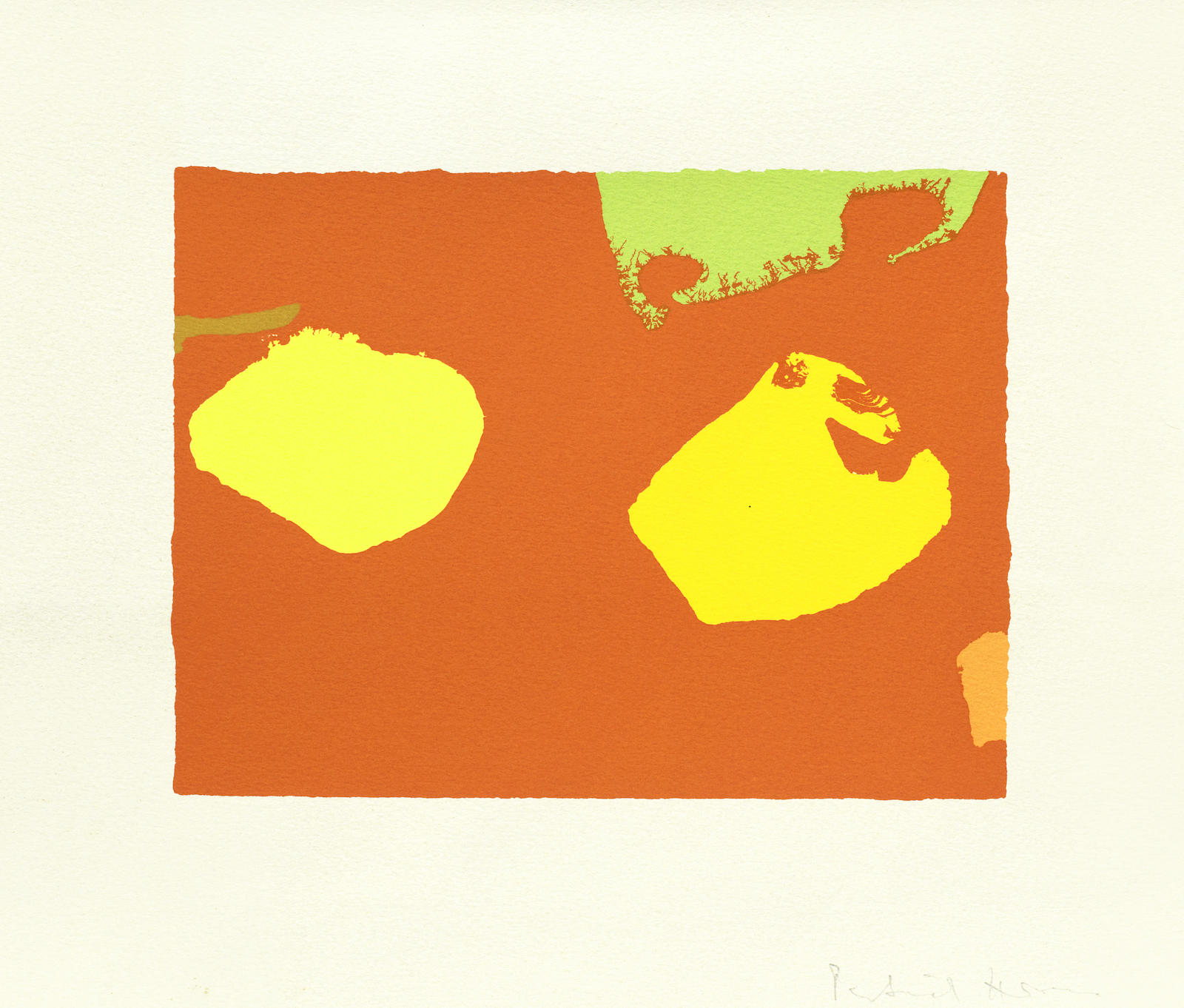Patrick Heron-Limes and Yellows in Orange: June 1976, from The Shapes of Colour  unframed-1978
