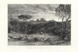 Samuel Palmer-Collection of Six Etchings ('Homeward Star', 'Cypress Grove', 'Sepulchre', 'Moeris & Galatea')-1861