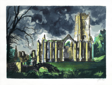 John Piper-Fountains Abbey, Yorkshire-1983