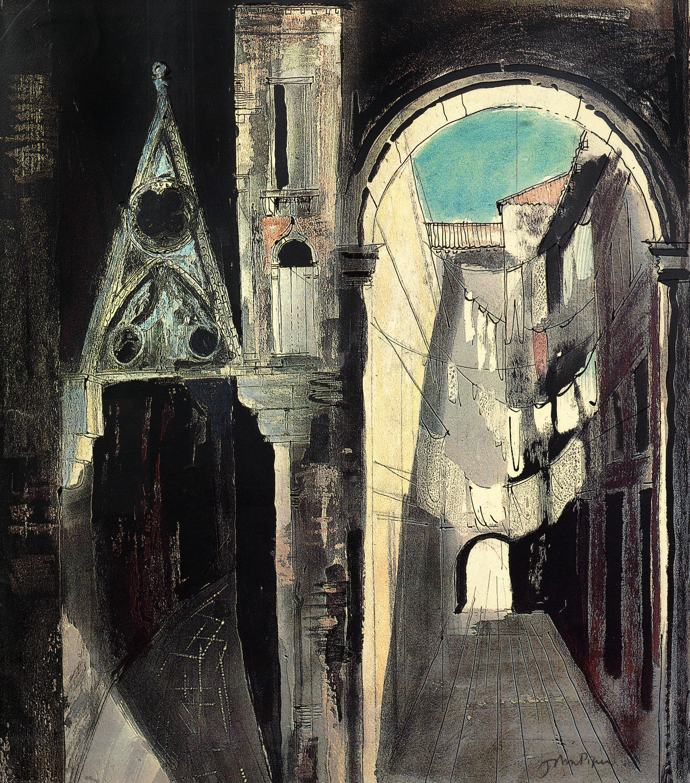 John Piper-Death In Venice III-1973