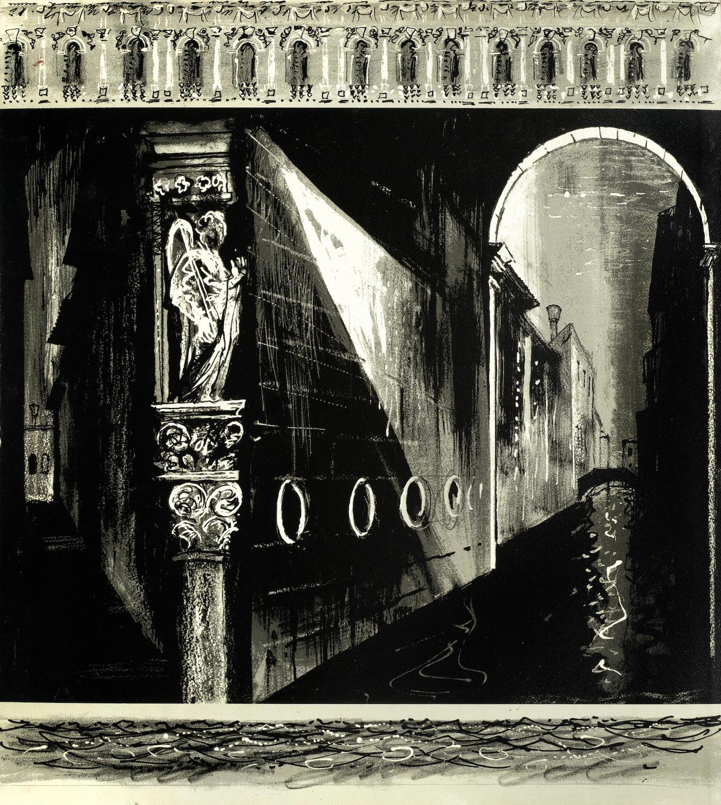 John Piper-Death in Venice: Side Panel Left & Side Panel Right folio-1973