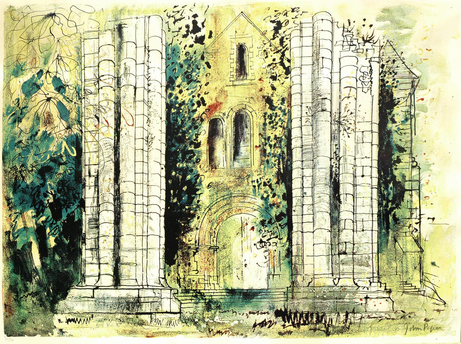 John Piper-St Raphael, Dordogne-1968