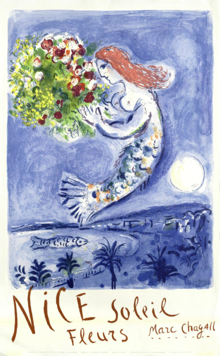Marc Chagall-After Marc Chagall - La Baie des Anges-1962