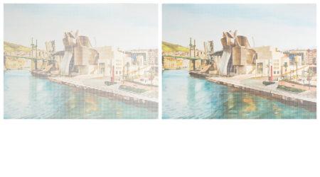 Satoshi Watanabe-Museo Guggenheim Bilbao set of two works-2008