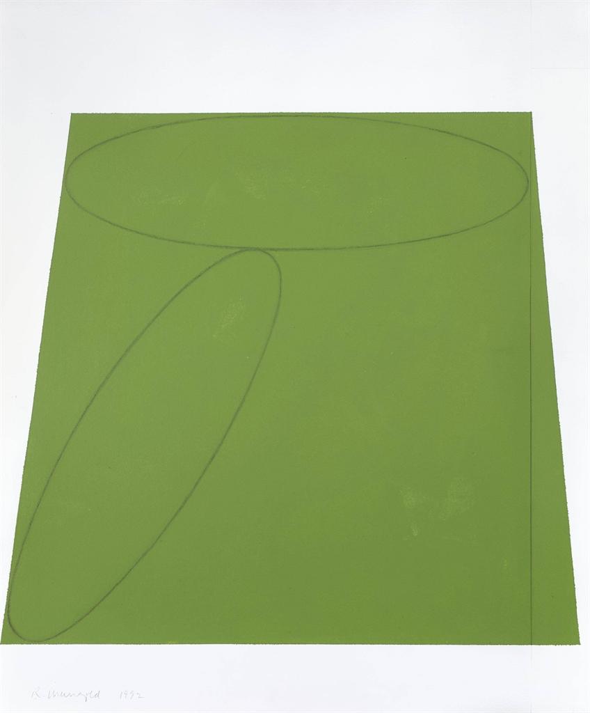 Robert Mangold-Plane/Figure IV, Study I-1992
