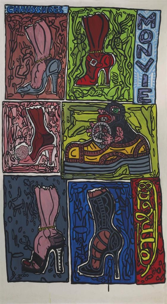 Robert Combas-Chaussures-1987