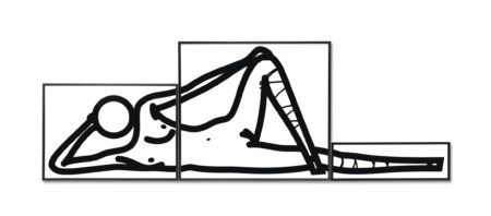 Julian Opie-This is Shahnoza in Three Parts No. 6-2008